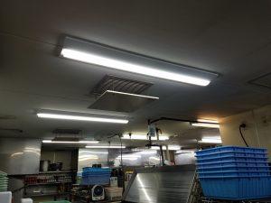 愛知県一宮市 飲食店 照明器具工事店 LED照明器具切替工事【株式会社さつき電気商会】