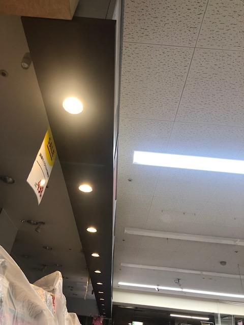 三重県桑名市店舗LEDダウンライト「LEDはとても明るいですね!ここまで違うとは。」取付工事店【株式会社さつき電気商会】